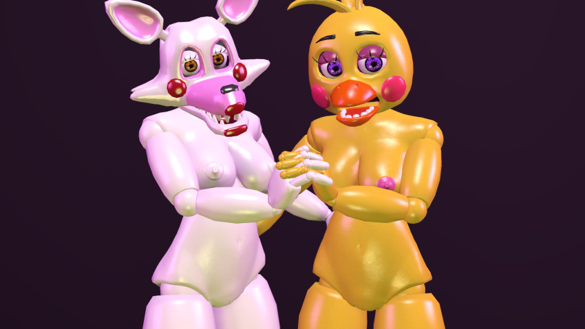 or fnaf toy chica mangle Date a live tohka hentai